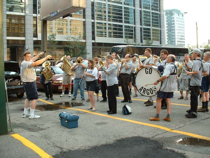 Photo (I think) by Wayne Dawe - from Argonotes.com. Our pre-game warmup spot in warmer weather circa 2002.