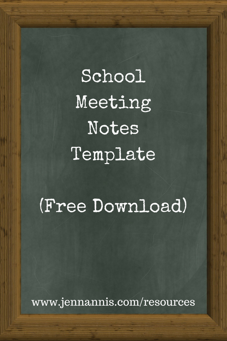 School Meeting Notes Template Download