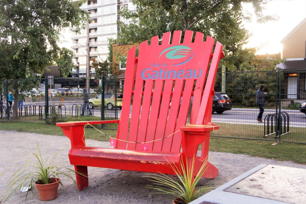 Oversised Red Muskoka Chair